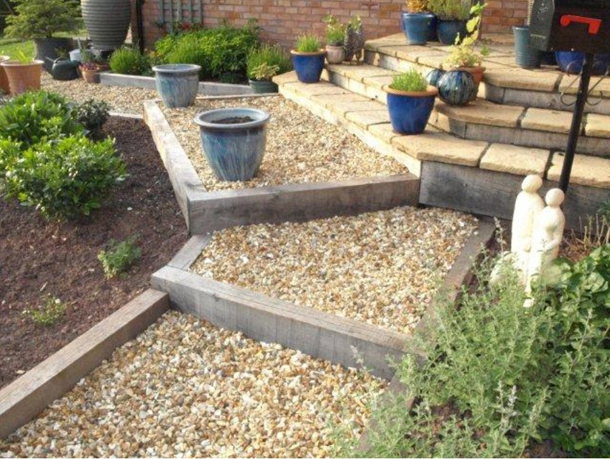 Get creative with railway sleepers My Fencing Direct