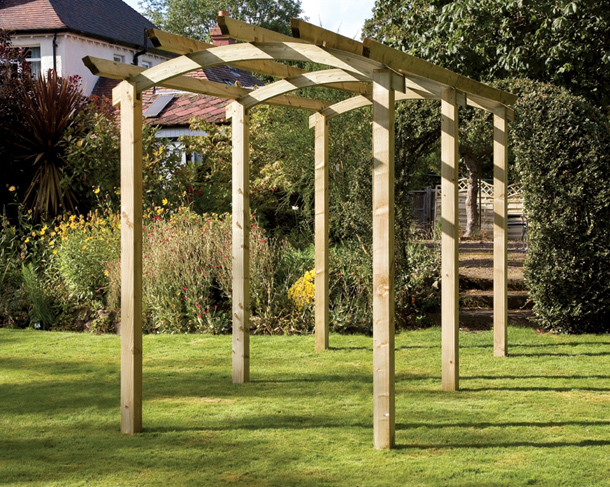 How To Build A Pergola For Your Garden In 10 Easy Steps My Fencing Direct